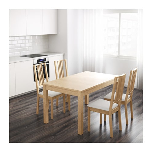 Newest Extendable Dining Tables In Bjursta Extendable Table – Oak Veneer – Ikea (Gallery 13 of 20)