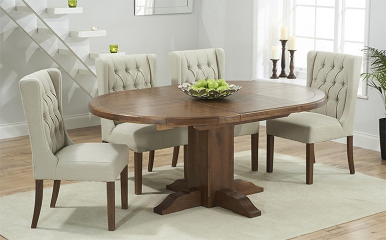 Newest Extending Round Dining Tables For Extending Dining Table Sets Uk – Castrophotos (View 19 of 20)