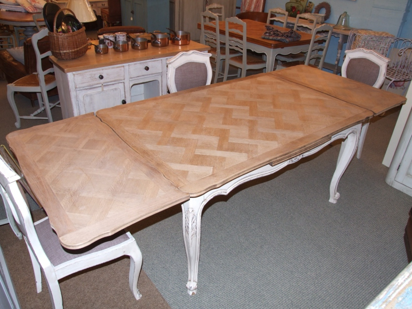 Newest F198/s – French Extending Dining Table – La Belle Étoffe Throughout French Extending Dining Tables (View 12 of 20)