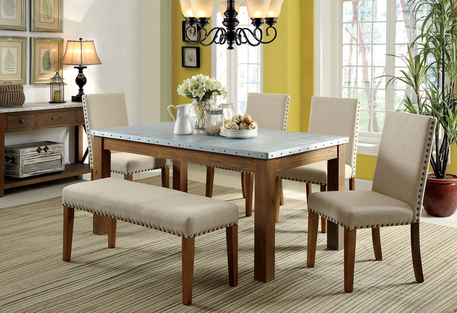 Newest Fashionable Design Ideas Dining Table Set With Bench Finley Home Inside Palazzo 3 Piece Dining Table Sets (View 15 of 20)