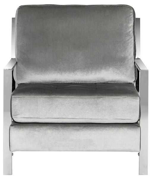 Newest Fox6279c Accent Chairs – Furnituresafavieh Regarding Walden Upholstered Side Chairs (View 17 of 20)