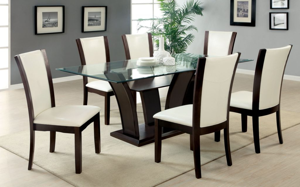 Newest Glass Dining Tables Sets For Piece Glass Dining Table Sets  Gallery Dining Dining Table With (View 20 of 20)