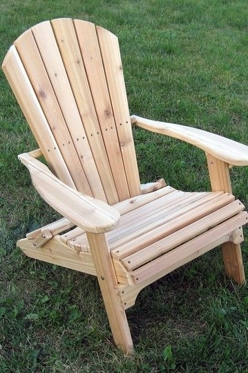 Newest Green Cedar Dining Chairs With Regard To Western Red Cedar Folding Adirondack Chairbuyerchoiceusa On (View 11 of 20)