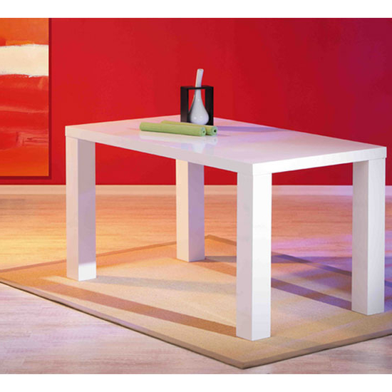 Newest Guiseppe High Gloss Dining Room Table In White 19140 Within White Gloss Dining Tables 140cm (View 8 of 20)
