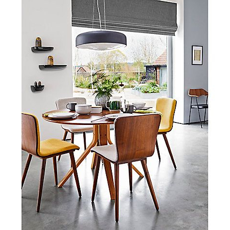 Newest Housejohn Lewis Radar 6 Seater Round Dining Table, Walnut Throughout Round 6 Seater Dining Tables (View 14 of 20)