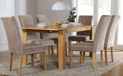 Newest How To Decide Size Of Your Round Dining Table With Chairs? – Home Regarding Dining Tables With 6 Chairs (View 7 of 20)