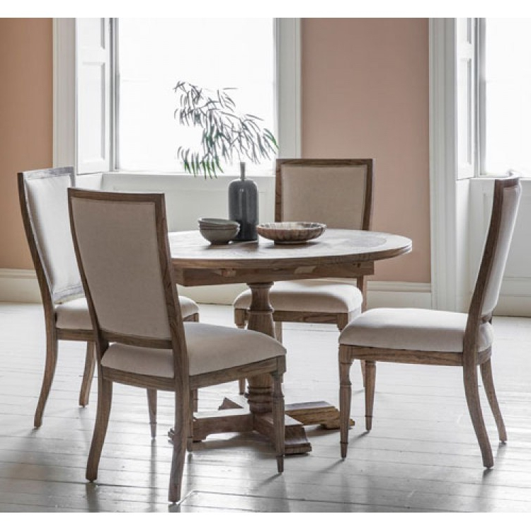 Newest Hudson Dining Tables And Chairs Throughout Mustique Round Dining Table (View 16 of 20)