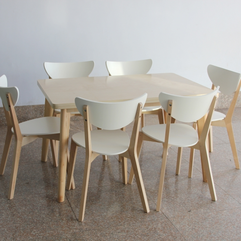 Newest Ikea Style Dining Table And Chairs Rectangular Tables Wood Laminate Throughout Birch Dining Tables (View 15 of 20)