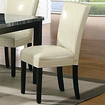 Newest Ivory Leather Dining Chairs With Ivory Dining Room Chairs – Rainbowalley (View 17 of 20)