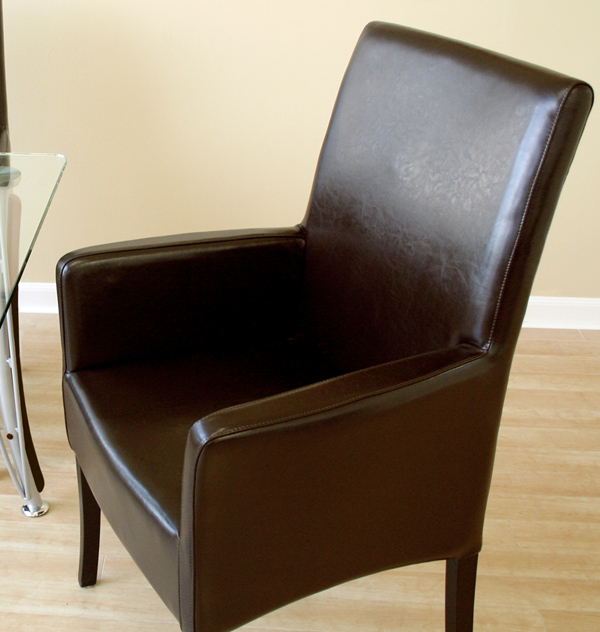 Newest Leather Dining Chairs With Arms – Thetastingroomnyc Pertaining To Dark Brown Leather Dining Chairs (View 14 of 20)