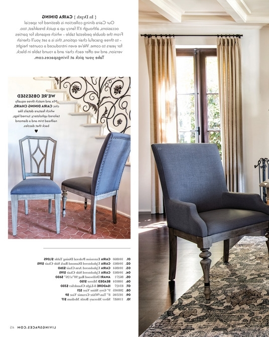 Featured Photo of Caira Black Upholstered Diamond Back Side Chairs
