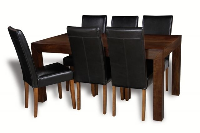 Newest Mango 180Cm Dining Table & 6 Barcelona Chairs (View 15 of 20)