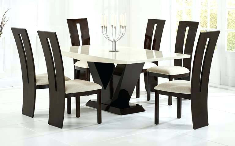 Newest Marble Dining Table Sets Elegant Set Up – Mybeanstalk For Marble Dining Chairs (View 11 of 20)