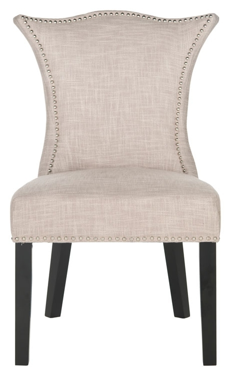 Newest Mcr4717A Set2 Dining Chairs – Furnituresafavieh In Caira Black Upholstered Arm Chairs (View 12 of 20)
