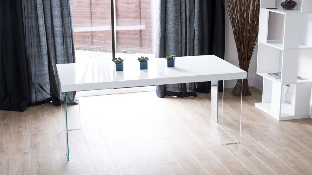 Newest Modern White Gloss Dining Table (View 14 of 20)