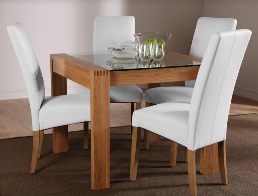 Newest Oak And Glass Dining Tables Sets Inside 7 Contemporary Glass Square Dining Tables – Cute Furniture Uk (View 11 of 20)