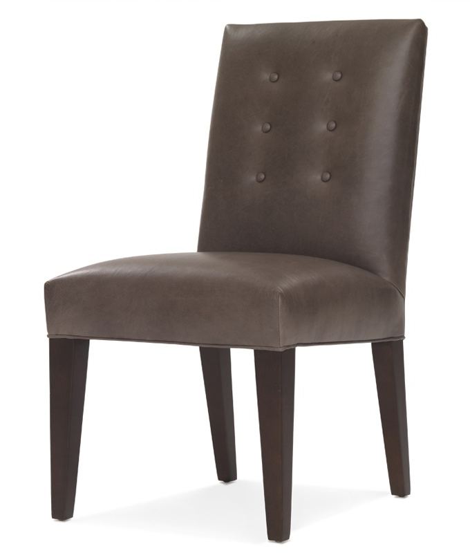 Newest Oliver Side Chairs With Regard To Mitchell Gold + Bob Williams Oliver Leather Side Dining Chair (Gallery 6 of 20)