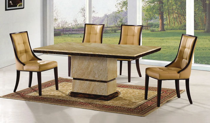 Newest Pick Of The Week! – Amida Marble Dining Table Set – Frances Hunt Pertaining To Marble Dining Chairs (View 12 of 20)