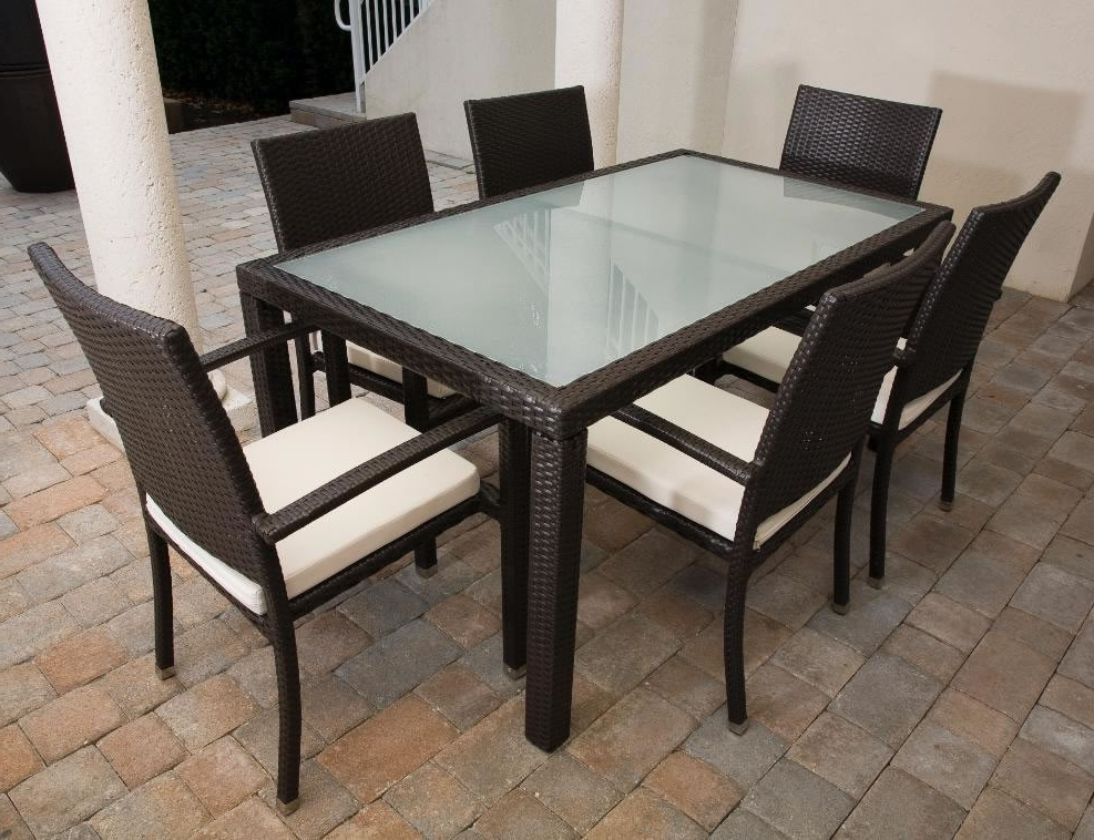 "Newest Rattan Dining Tables In Source Outdoor Zen Wicker 84"" X 40"" Dining Table – Wicker (View 13 of 20)"