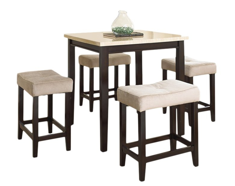Newest Red Barrel Studio Skeens 5 Piece Counter Height Dining Set & Reviews Regarding Jaxon 5 Piece Extension Counter Sets With Fabric Stools (View 17 of 20)
