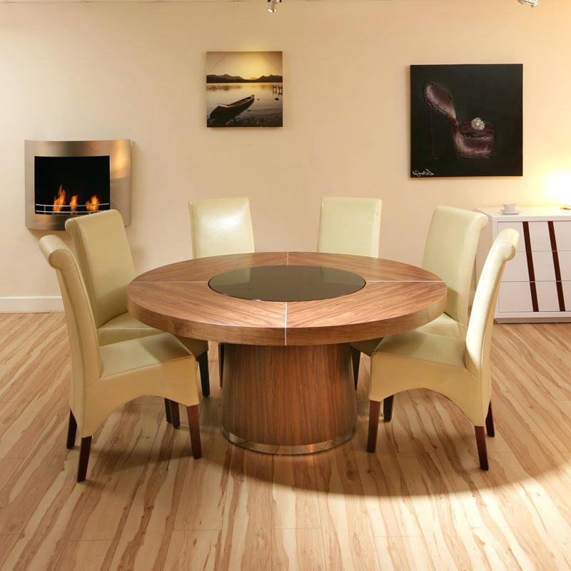 Newest Round 6 Seater Dining Tables With Round Dining Tables For 6 Oak Round Dining Tables Table For 6 With (View 17 of 20)