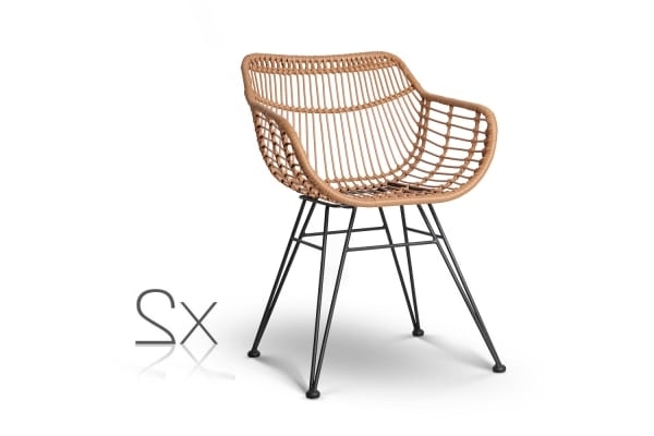 Newest Set Of 2 Rattan Dining Chair (natural) – Kogan Regarding Natural Rattan Metal Chairs (View 4 of 20)