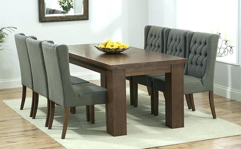 Newest Solid Dark Wood Dining Tables Throughout Wood Dining Room Table Sets Solid Oak Dining Room Chairs Oak Dining (View 9 of 20)