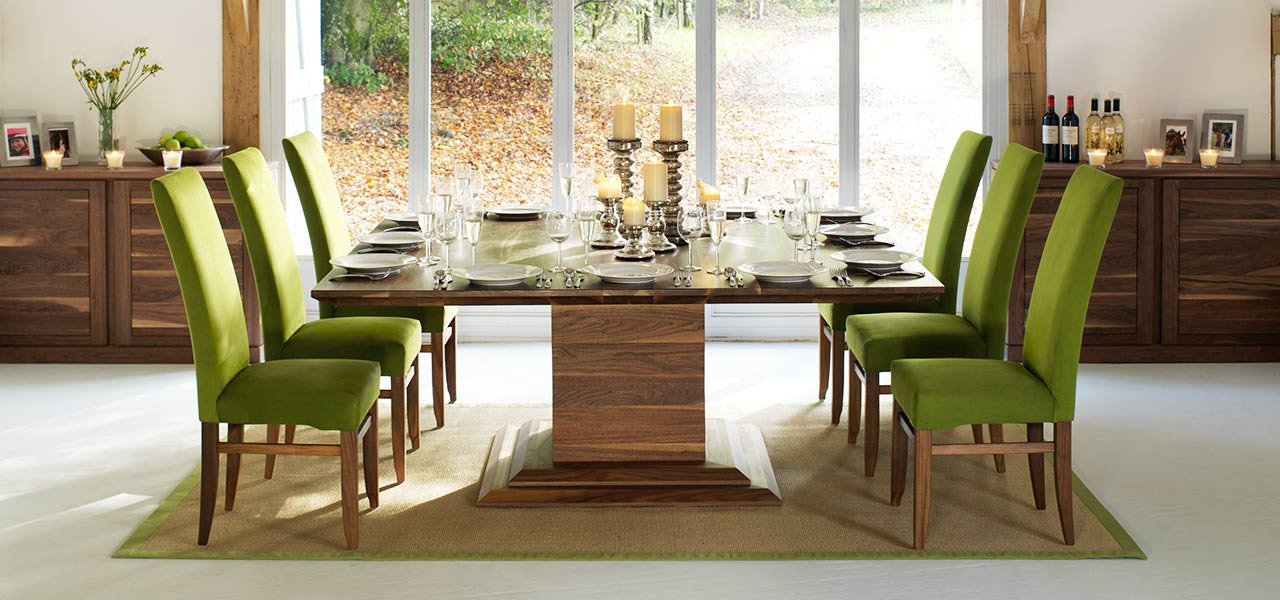 Newest Square Dining Tables In Solid Oak & Walnut, Extending Square Tables In Dining Tables For  (View 17 of 20)