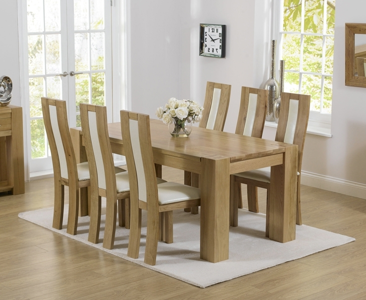 Newest Thames 180Cm Oak Dining Table With Toronto Chairs Within 180Cm Dining Tables (View 16 of 20)