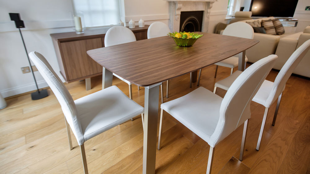 Newest Walnut Dining Tables And Chairs With Walnut Dining Table Sets – Castrophotos (View 8 of 20)