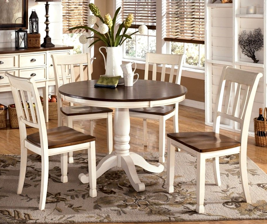 Newest White Circular Dining Tables Regarding Dining Tables Stunning Circle Dining Table Set Round Dining Room (View 9 of 20)