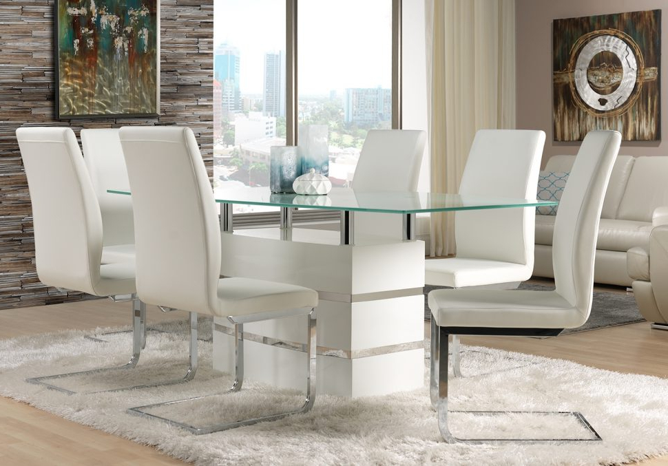 Newest White Leather Dining Room Chairs In White Leather Dining Chairs To Spice Up Your Dining Room – Home (View 5 of 20)