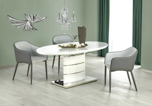 Newest White Oval Extending Dining Table – Bcrr Within White High Gloss Oval Dining Tables (View 9 of 20)
