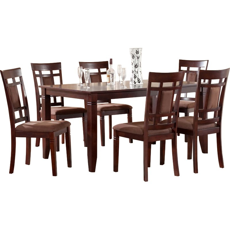 Norwood 6 Piece Rectangular Extension Dining Sets With Upholstered Side Chairs Throughout Preferred Ighli 7 Piece Dining Set & Reviews (View 14 of 20)