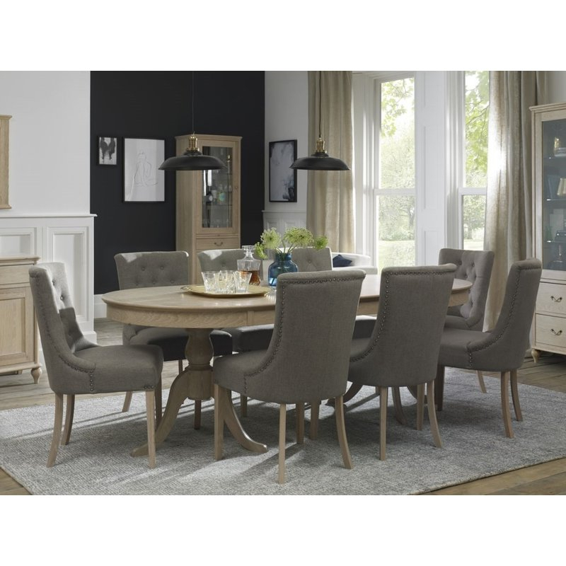 Norwood 6 Piece Rectangular Extension Dining Sets With Upholstered Side Chairs With Regard To Popular Canora Grey Cecile 9 Piece Extendable Solid Wood Dining Set (View 16 of 20)