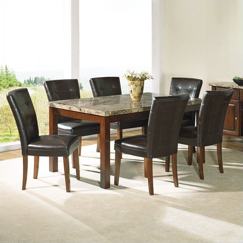 Norwood 9 Piece Rectangular Extension Dining Sets With Uph Side Chairs For Famous Dining Room Dining Room Sets Formal Granite Top Dining Table Dining (View 7 of 20)