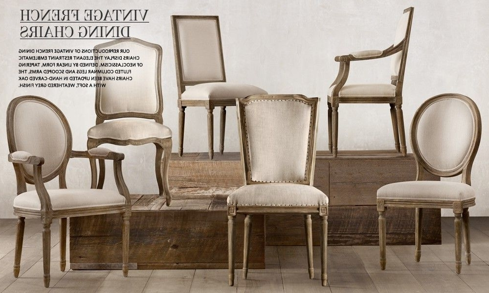 Norwood Upholstered Hostess Chairs With Popular Vintage French Dining Chairs Restoration Hardware (View 10 of 20)