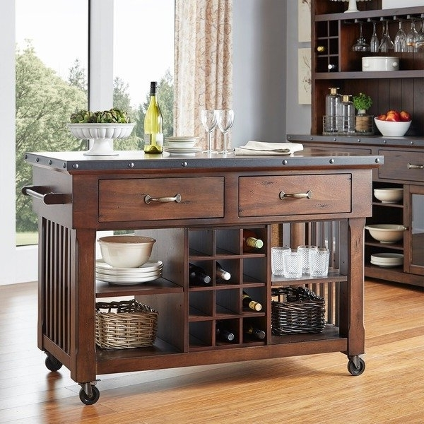 Norwood Upholstered Hostess Chairs With Regard To Best And Newest Shop Norwood 2 Drawer Rolling Kitchen Island With Wine Rack – Free (View 9 of 20)
