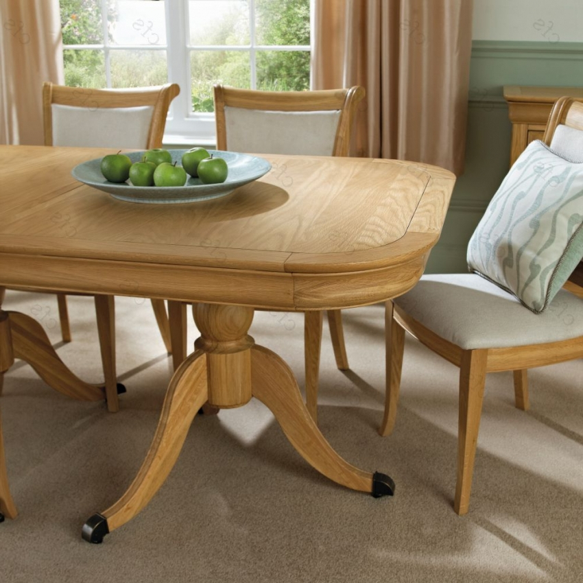 Oak 6 Seater Dining Tables With Regard To Most Recent Buy Bentley Designs Chantilly Oak Oval Extending Dining Table (View 16 of 20)