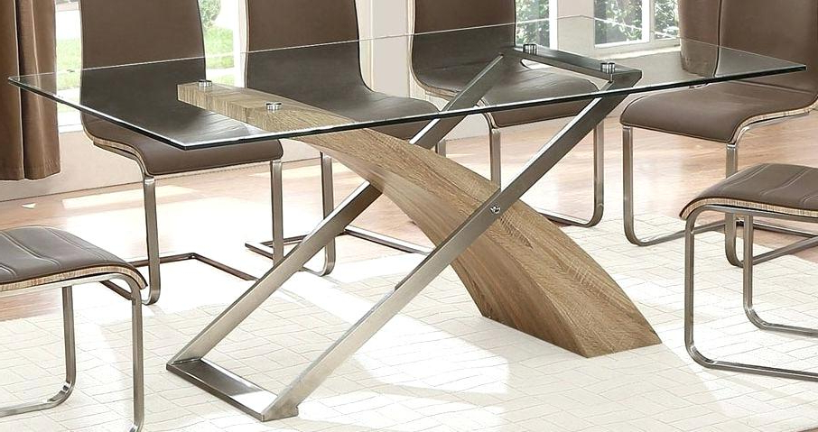 Oak And Glass Dining Tables And Chairs For Most Recent Round Glass Dining Table Set Uk – Modern Computer Desk (View 11 of 20)