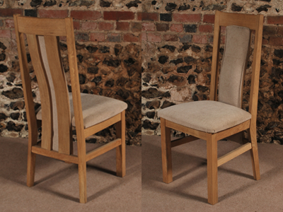 Oak Dining Chairs With 2017 2 Slat Back Solid Oak Dining Chair, The Oak & Pine Barn, Hampshire (Gallery 20 of 20)