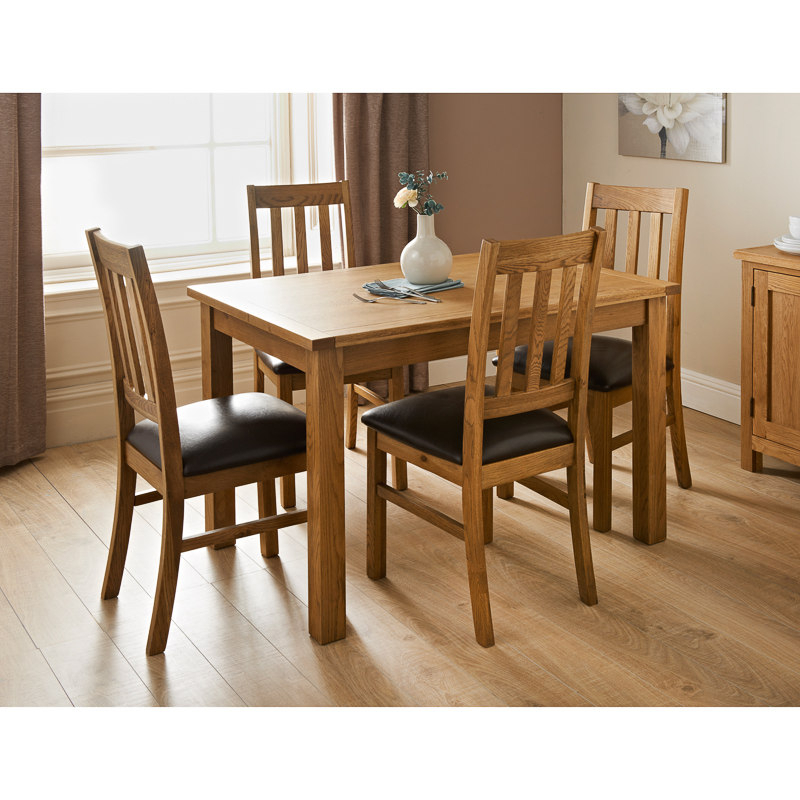 Oak Dining Chairs With Well Known Hampshire Oak Dining Set 7pc (View 19 of 20)