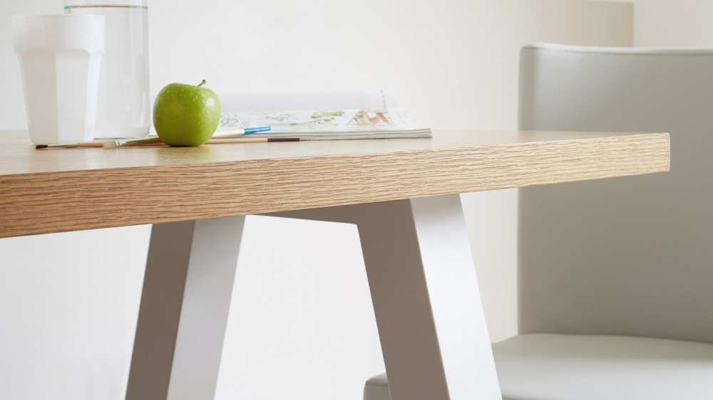 Oak Dining Furniture Intended For Popular Contemporary 6 Seater Oak And Matt Grey Dining Table (Gallery 10 of 20)