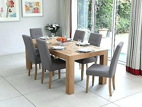 Oak Dining Room Tables And Chairs Beautiful Dining Table 8 Chairs With Well Known Dining Tables Grey Chairs (Gallery 18 of 20)