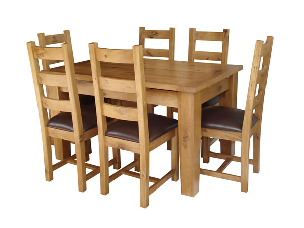 Oak Dining Set 6 Chairs In Most Recently Released Kincraig Solid Oak Extending Dining Table + 6 Oak Chairs (View 12 of 20)