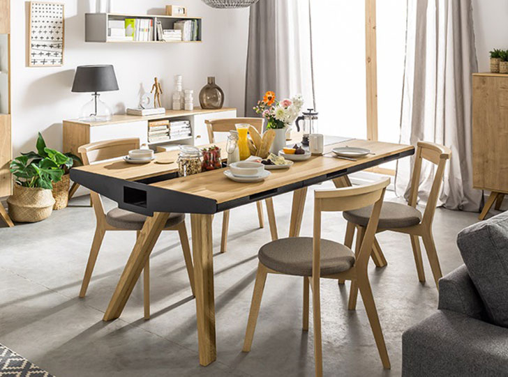 Oak Dining Suite Intended For 2017 40+ Coolest Unique Dining Tables You Can Buy – Awesome Stuff  (View 12 of 20)