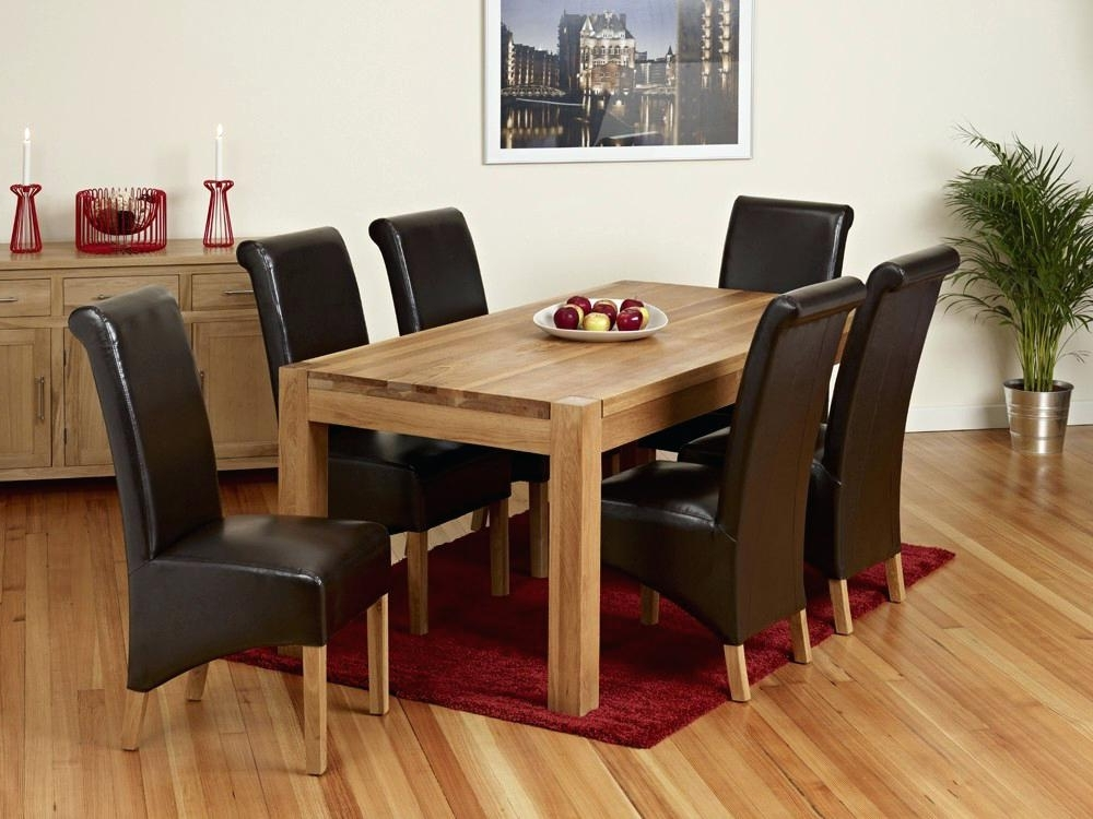 Oak Dining Table And 8 Chairs For Sale – Ocane Regarding 2017 Chunky Solid Oak Dining Tables And 6 Chairs (View 12 of 20)