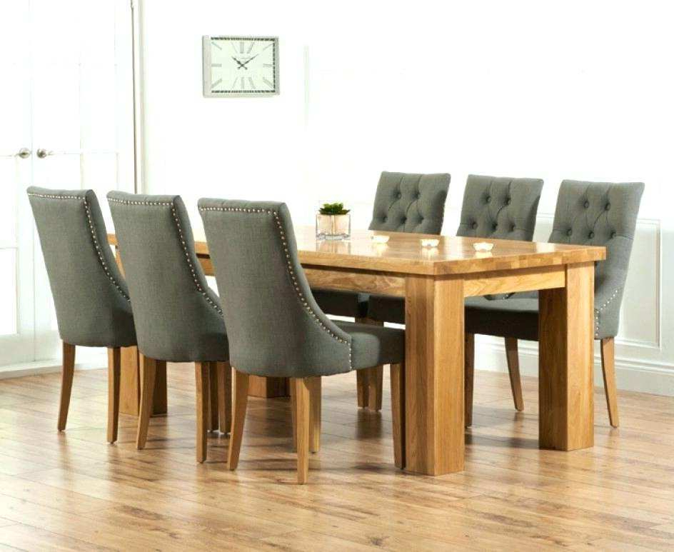 Oak Dining Table And Chair 8 White Oak Dining Table And Real Leather Intended For 2017 Oak Dining Tables And Fabric Chairs (View 7 of 20)