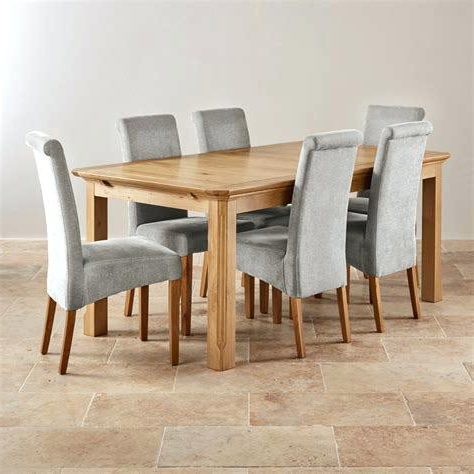 Oak Dining Table Set – Dorjeshugden For Widely Used Oak Dining Tables With 6 Chairs (View 9 of 20)