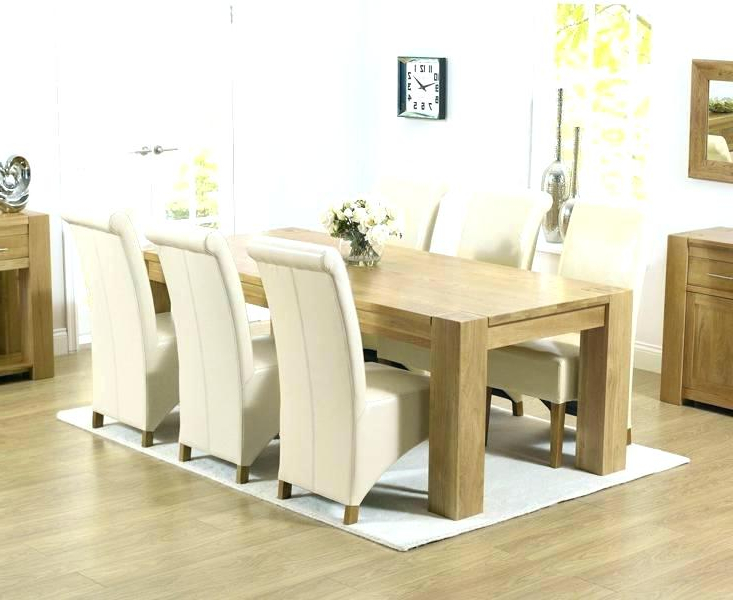 Oak Dining Table Set – Dorjeshugden Inside Most Popular Light Oak Dining Tables And 6 Chairs (Gallery 3 of 20)